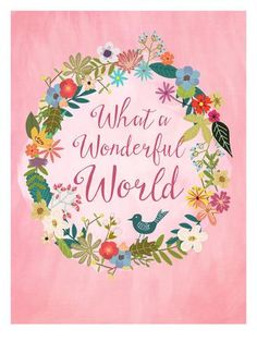 Wonderful World Posters by Mia Charro at AllPosters.com