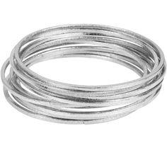 Worthington Silver-Tone Interlocking Bangle Bracelets (85 DKK) ❤ liked on Polyvore featuring jewelry, bracelets, accessories, jewels, pulseras, stacked bangles, silver tone jewelry, silvertone jewelry, hinged bangle and bracelets bangle