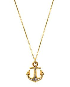 Pave Anchor Pendant.  My new Necklace from Juicy Couture!