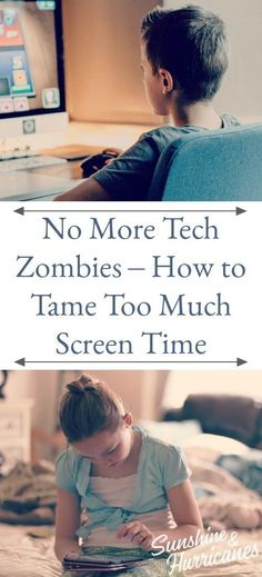 NO More Tech Zombies. Here's one mom's easy solution for how to tame too much screen time. A printable screen time contract is included. #screentime #printable #summerscreentime #technology #kidsandtechnology #kids #parenting #printablecontract