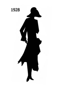 silhouettes from 1920 | Picture of Black Fashion Silhouette 1929 for Stencils