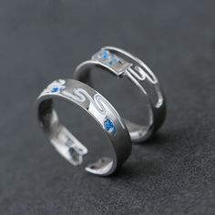 Adjustable Unique Matching Rings For Couples In Sterling Silver, Personalized Promise Rings For Him And Her. Promise Rings For Couples, Rings For Men, Personalized Promise Rings, Matching Couple Rings, Fashion Couple, Love Ring, Fashion Rings, Wedding Bands, Engagement Rings