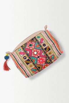 Anthropologie Embroidered Pouch