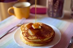 Pancakes with Caramel Sauce.If you want to learn how you can make them,please visit us!