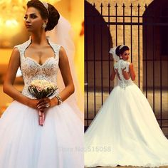Cheap Wedding Dresses, Buy Directly from China Suppliers:   Royal Style Fully Crystal Sweetheart Bodice Corset Wedding Dresses Ball Gown 2015 Hot Sale Vestidos De Casamento US $