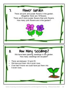 Spring Math Games, Puzzles and Brain Teasers from Games 4 Learning. It is loaded with Spring math fun.$