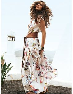Burda Tiered Maxi Skirt and blouse pattern, MUST make this for summer LOVE IT