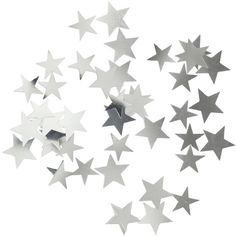 H&M Star-shaped decorations (€2,27) ❤ liked on Polyvore featuring fillers, backgrounds, stars, fillers - grey, glitter, silver, saying, quotes, phrase and magazine