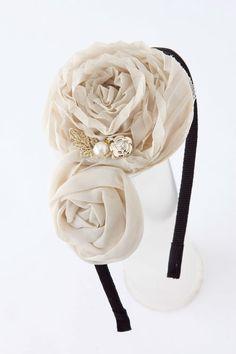 Ivory Rose Headband on Emma Stine Limited