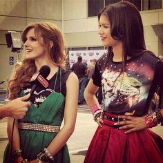 Photo: Bella Thorne And Zendaya Interviewed By Jake Whetter Of Radio Disney