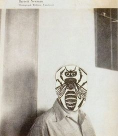 Ray Johnson - Barnett's Bee (1959-60) / from #book 'Ray Johnson: Correspondences' (Wexner Center for the Arts/Flammarion, 1999) #collage #mailart
