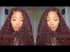 Super Red Curly 360 Wig ft. Chinalacewig.com - YouTube
