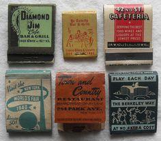 1930s & 1940s Vintage Matchbooks