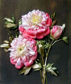 Gallery.ru / Photo # 7 - Embroidered Ribbon Peonies