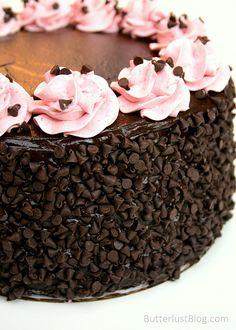 Chocolate Raspberry Layer Cake