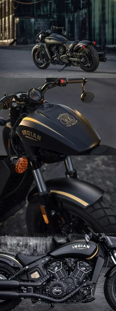 Indian-Scout-Bobber-Jack-Daniels-Edition motorcycles and scooter Model: Power, Mileage, Safety, Colors Brat Bike, Bobber Motorcycle, Moto Bike, Motorcycle Style, Indian Motorcycles, Indian Motorbike, Cool Motorcycles, Indian Bobber, Harley Davidson