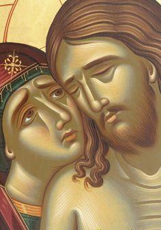 Не рыдай Мене Мати Byzantine Icons, Byzantine Art, Religious Icons, Religious Art, Spiritual Paintings, Jesus Painting, Catholic Art, Art Icon, High Art