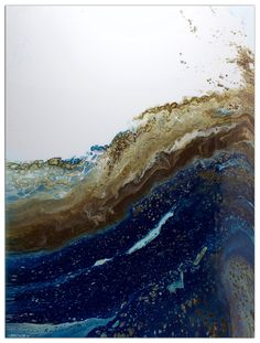 "Arthur Brouthers - River Meets Sky, 2015 - 45x60"" - acrylic & resin on wood - sold"