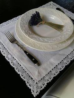 Linen table mate by shabby.romantic / Ľanové prestieranie White Madness