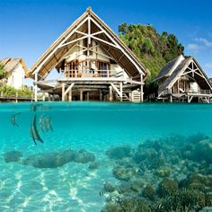 traveling places resort in papua
