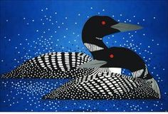 Blue Loon by Charley Harper