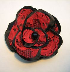 $20.00 Red Rose Hair Clip