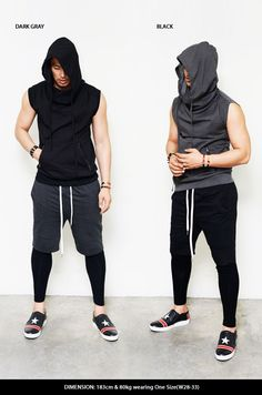 Bottoms :: Sweatpants :: Leggins Layer Drop Jersey Short Sweats-Sweatpants 131 - Mens Fashion Clothing For An Attractive Guy Look