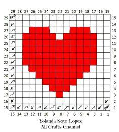 Crochet Heart – Easy (corner to corner) Heart Square pattern – All Crafts Channel – Granny Square Crochet Heart Blanket, Crochet Pillow, Tapestry Crochet, Bear Blanket, Afghan Blanket, Crochet Afghans, Crochet Blankets, Graph Crochet, Free Crochet