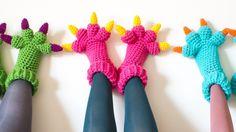 New Crochet Pattern: MonsterSlippers