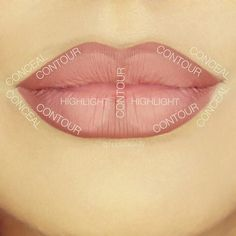 How to contour your lips using @shophudabeauty #hudabeautylipcontour in Trendsetter & Bombshell