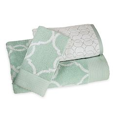 Langley Hand Towel in Mint
