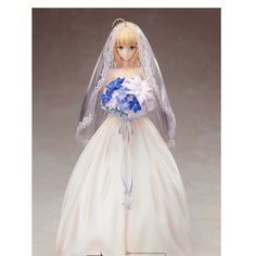 70.00$  Watch now - http://alivze.worldwells.pw/go.php?t=32367469615 - Fate Stay Night/Fate Zero Cosplay Bride Saber 24cm/9.4'' Boxed Action Figures Toys Model GK Garage Kits 70.00$