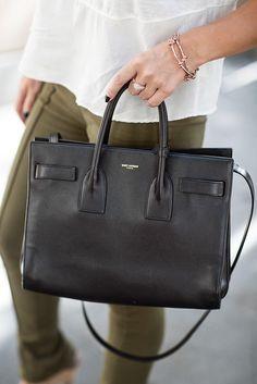 Forever Fall | Marianna Hewitt Fashion Blog  Saint Laurent Black Purse Sac Du Jour