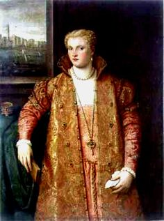 Pink sottana with high collared zimarra similar to the extant one Parrasio Micheli 1565 Portrait of a Woman Genoa, Palazzo Rosso http://realmofvenus.renaissanceitaly.net/wardrobe/Lady1565.JPG