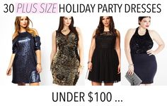 30 Rad Plus Size Holiday Party Dresses Under $100