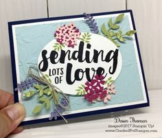 For the DOstamper STARS Thursday Challenge. Featuring Lots of Love stamp set and Bouquet Bunch Framelits. For more details and instructions click through to my blog. #crackedpotstamper #stampinup #handstamped via @ Dawn Thomas (Cracked Pot Stamper)