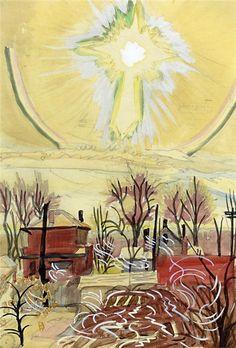 Bright Sun,1916, Charles Burchfield