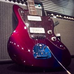 #fender Troy van Leeuwin #jazzmaster #guitar #electricguitar with bound #rosewood #fingerboard in #oxblood