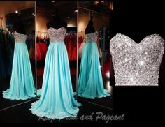 AQUA CHIFFON and AB STONES http://rsvppromandpageant.net/collections/long-gowns/products/aqua-chiffon-with-ab-stones-bodice