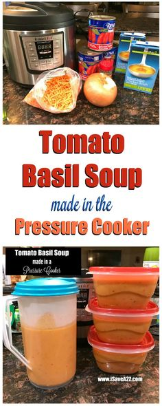 Nordstrom Tomato Basil Soup Made in the Pressure Cooker