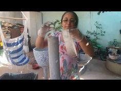 Pilar de cimento 45 cm. - YouTube