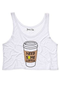 Need Some Coffee Crop Tank Top | Yotta Kilo