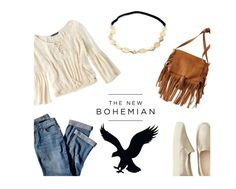"""The New Bohemian with American Eagle Outfitters: Contest Entry"" by shaafiraa ❤ liked on Polyvore featuring American Eagle Outfitters, J.Jill and aeostyle"