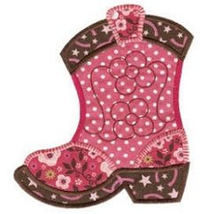 Cowgirl Boot Applique - 3 Sizes! | Cowboys | Machine Embroidery Designs | SWAKembroidery.com