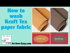 Learn all about Kraft Tex 'leather' fabric - So Sew Easy