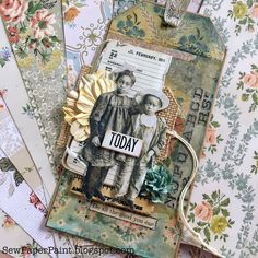 SewPaperPaint: Tim Holtz Wallpaper Paper Doll Tag
