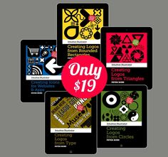 Quickly Learn Adobe Illustrator with 5 Intuitive eBooks by Peter Bone- only $19! - MightyDeals  Creating Icons for Websites & Apps Creating Logos from Rounded Rectangles Creating Logos from Triangles Creating Logos from Circles Creating Logos from Type