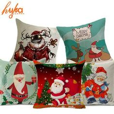 Hyha High Qulity Christmas Cushion Cover Santa Claus Presents Xams Gifts Home Decorative Pillows For