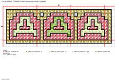 Alfabeto 3 lettere maiuscole inserite in quadrati: A