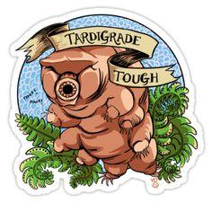 """Tardigrade Tough Crest"" Stickers by Veronica Guzzardi | Redbubble"